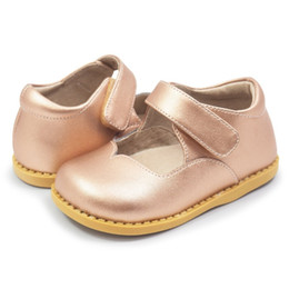 Discount d rose new shoes - Tipsietoes Astrid Rose Gold Kids Leather Shoes New Boys And Girls Children Beach Shoes Kids Sport Sandals Fashion Flats