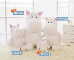 Stuffed hippo animal dollS online shopping - 25cm cm cm cm size white hippo Plush Toys doll hippo Stuffed Animal Toys comfortable plush doll as best gifts for kid