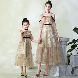 1ab25a2934a Mother-daughter party dress Westernized spring and summer dress High-end  noble walk show piano costume seaside holiday beach skirt