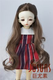 Wig Grey Australia - 6-7inch Alice Fantasy Synthetic Mohair Wigs YOSD Resin Doll Wig 1 6 BJD Doll Accessories Brown Grey and Blond Wig JD028