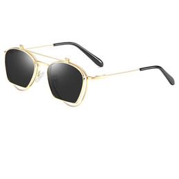 48eff813f3 Metal tirón ronda online-Gafas de sol de alta calidad para hombre y mujer de