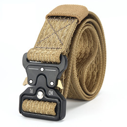 DWTS  Cinturón de lona para hombre Cinturón táctico masculino Cinturón del  ejército al aire libre 100% Nylon Entrenamiento Cinturones militares  Cinturón ... 98f540486d89