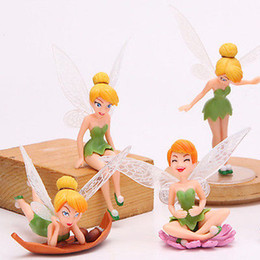 miniatures flowers wholesale NZ - Emmababy 4pcs Flower Pixie Fairy Miniatures Figurine Garden Ornaments Decor Beauty Decor Gift