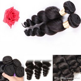 Brand Hair Colors Australia - Elibess Brand--Unprocessed Brazilian Loose Wave Curly Hair Weft Human Hair Peruvian Indian Malaysian Hair Extensions Dyeable