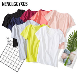 $enCountryForm.capitalKeyWord Australia - NENGLGGYXGS New Best Sell U neck Sexy Top Ladies Short Sleeve T Shirt Tee Short T-shirt Basic Stretch T-shirts Women Harajuku