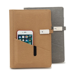$enCountryForm.capitalKeyWord NZ - Notebook with power bank multi-function notebook with USB cable and USB flash disk for business meeting