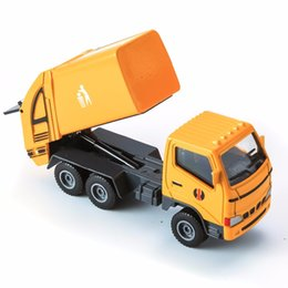 Toy consTrucTion car online shopping - Alloy cars alloy construction vehicles Sprinkler China Post Garbage Truck Diecast Toy Vehicles trucks toy