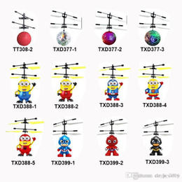 Lighted Toy Helicopters Australia - 13 models RC Drone Flying copter Ball Aircraft Helicopter Led Flashing Light Up Toys Induction Electric Toy sensor Kids Children Christmas