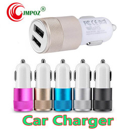 $enCountryForm.capitalKeyWord Australia - For Iphone X Car Charger Metal Travel Adapter 2 Ports Colorful Micro USB Car Plug USB Adapter For Samsung Note 9 8 Iphone X 8 7 OPP Package
