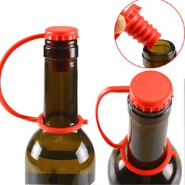 $enCountryForm.capitalKeyWord NZ - Anti-lost Silicone Beer Wine Stopper Hanging Button Seasoning Plug Multicolor Bottle Cap Cover Perfect Kitchen Tools TC190226 100PCS