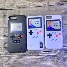 Hot Sales Iphone Case NZ - Full color disply GameBoy phone cases for iphone 6 6s 7 8 plus X Classic Retro Tetris Game cover for iphone X 8 7 6 Xs Max Coque Hot sale