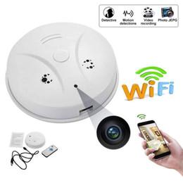Smoke Detectors Camera Wifi Australia - 8GB memory Smoke Detector 1080P HD Mini Camera,WiFi Wireless Home Security Video&Photo IP Surveillance Fire Alarm Detector Cam PQ533