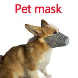 Köpek Yumuşak Yüz Pamuk Ağız nefes vana ile Pet Respiratörü PM2.5 Filtre Anti Toz Gaz Kirliliği Namlu Anti-sis Pus Maskeler Maske