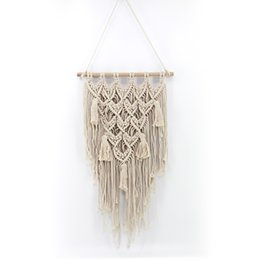 $enCountryForm.capitalKeyWord UK - Woven Wall Hanging Boho Woven Tapestry Curtain Fringe Garland Banner Macrame Wall Hanging Woven Tapestry Boho Bohemian Home Decor for Apartm