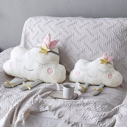 $enCountryForm.capitalKeyWord Australia - New Adorable Cloud Pillow Cushions Pillow Children Kids Stich Plush Decorative Bed Pillow Toys Ty Gift Cute Cloud Pp Cotton Toys