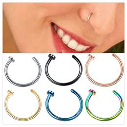 Medical Nose Australia - Fashion Nose Ring Fake Septum Medical Titanium Piercing Silver Gold Body Clip Hoop For Women Girls Septum Clip Hoop Body Jewelry
