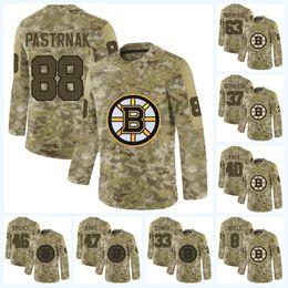 China David Pastrnak Boston Bruins Brad Marchand David Krejci Tuukka Rask Patrice Zdeno Chara 2019 Upgraded version of the new camouflage Jersey cheap bruins yellow jersey suppliers