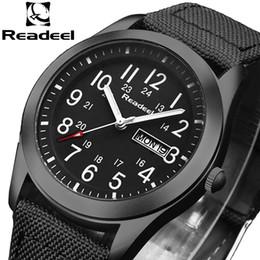 Men Wrist Watches Date Australia - Readeel Brand Fashion Men Sport Watches Men's Quartz Hour Date Clock Man Military Army Waterproof Wrist Watch Kol Saat Erkekle Y19051302