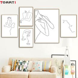 $enCountryForm.capitalKeyWord Australia - Sexy Women Body Nordic Poster&Print Line Drawing Modern Canvas Painting Wall Art Mural Modular Picture Girls Bedroom Home Decor