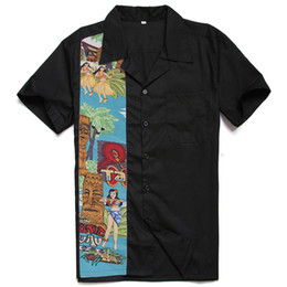 Designs Girls Shirts New Australia - New Designs Easter Statue Nude Girls Tiki Printing Male Casual Tops Cotton Rockabilly Vintage 40s 50s Club Plus Size Work Shirts