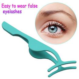 False Eyelash Clip Tweezers Australia - 1pc False Eyelash Tweezers Fake Eye Lash Applicator Eyelash Extension Curler Nipper Auxiliary Clip Clamp Makeup Forceps Tools
