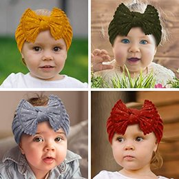 Headbands Bow Australia - Wholesale Ins New Baby Girl Headbands and bows Elastic Nylon Headband Fits newborn toddler infant girls Hair Accessories 13 colors