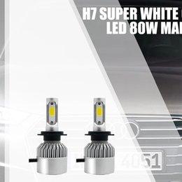 2PCS Auto Lampadine faro Kit Mini Size H7 LED Car Light 6000K 8000LM Super Bright COB Chip Automobiles Lampadina del faro