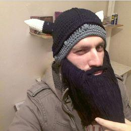 $enCountryForm.capitalKeyWord NZ - Unisex Barbarian Vagabond Viking Beard Beanies Popualr Hat Head Horn Hats Handmade Knit Winter Warm Holiday Party Cosplay Hat