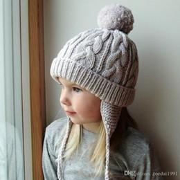$enCountryForm.capitalKeyWord Australia - Toddlers Baby Kid Girl Infant Lovely Winter Knitted earmuffs Warm Cap Hat Beanie Adorable Pom Warm Kids Hats