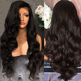 black human hair full lace wigs Australia - Glueless Remy Brazilian Human hair Wigs body wave Lace front and Full lace With Baby Hair Natural Color For Black Women