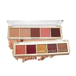 China 2019 NOVO a glimpse of the rainbow 5 color Eyeshadow Palette Shimmer Eye Shadow Makeup Long Lasting Beauty Cosmetics Matte Eyeshadow Pigment suppliers