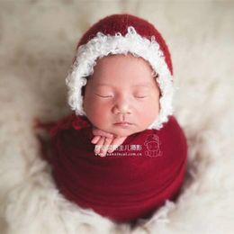 Newborn Christmas prop Red and white Santas elf Christmas hat Kids Crochet  Santa Hat Father Christmas Bonnet 20c5f40182eb