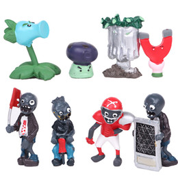 Plants Vs Zombie Figures Australia - 8pcs set Plants vs Zombies 1 2 3 4 5 generation Action Figures PVC Characters Collection Toys For Children M018