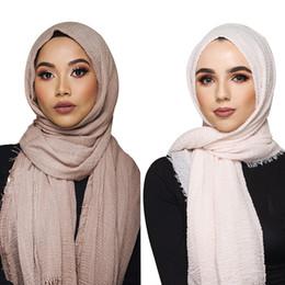 Cotton shawl priCes online shopping - price cm women muslim crinkle hijab scarf femme musulman soft cotton headscarf islamic hijab shawls and wraps