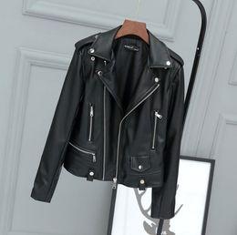 $enCountryForm.capitalKeyWord Australia - Autumn new SLP women's motorcycle leather women's short paragraph star with the same paragraph PU leather XL ladies jacket