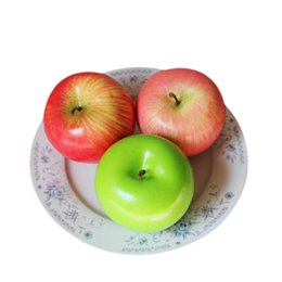 artificial apples UK - Home Furnishing Artificial Apple Plastic Ecorative Fruit Festival holiday Decoration fake Fruits Beautiful dekorasyon A60