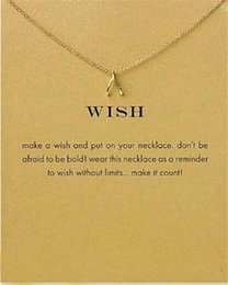 $enCountryForm.capitalKeyWord Australia - Fashion Necklace Wishbone Pendant Necklaces Wish Gold Silver Short Chain Necklace For Women Choker Jewelry Gifts With Card No Dogeared Logo