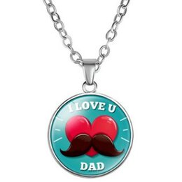 Best Wholesale T Shirts Australia - BEST SUPER DAD HERO FATHER PAPA ALLOY GLASS PENDANT SWEATER NECKLACE COLLAR JEWELR FREE STYLE CLASSIC COLLARBONE JERSEY T-SHIRT NECKLACES