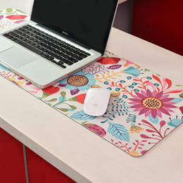 coloured laptops 2019 - Creative Desk Mouse Pad Desk Soft Comfort Leather Mouse Pad Large Multiple Colour PC Laptop Game Mousepad cheap coloured