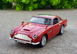 Model Car Lighting Australia - 1:32 Scale Diecast Alloy Metal Luxury Classic Sports Car Model For Aston Martin DB5 Collection Vehicle Model Sound&Light Toys