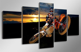 $enCountryForm.capitalKeyWord NZ - Beste Action Motocross,5 PiecesHome Decor HD Printed Modern Art Painting on Canvas (Unframed Framed)