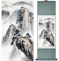 Chinese Landscape Oil Paint NZ - Landscape Painting Home Office Decoration Chinese Scroll Painting Landscape Art Painting Landscape Painting2019061015