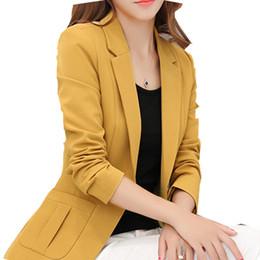Koreans females suit online shopping - HanOrange Korean Style Autumn Female Suit Lapel Show Skin Suit Jacket New Single Button Casual Jacket Plus Size XXXL XXXXL