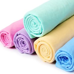 $enCountryForm.capitalKeyWord Australia - 50pcs lot 66x43cm Super Absorption Synthetic Deerskin Imitation buckskin PVA Chamois Cham Car Wash Towel Auto Clean Towel