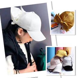 3dad3506e7c7c6 Large bowknot Kids Hats bows Girls Baseball Hat Korean kids Sun Hat Girls  Caps Fashion 2019 new Kids Cap Girls peaked cap A4159