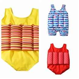 81e128bd3d96f 2019 newest style kids swimwear summer yellow one-pieces floating Bathing  Suit boy animal whale printed blue swimwear