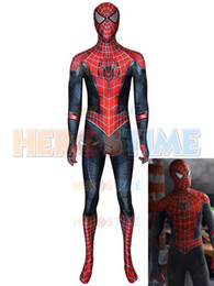$enCountryForm.capitalKeyWord Australia - 2019 Newest Spider-Man Costume Far From Home Raimi Spider Hybrid Suit Spandex Halloween Spiderman Costumes For Adult Kids Custom Made