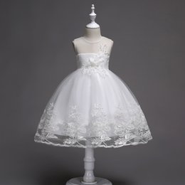 tutu bride NZ - High quality girls bride dress cute princess wedding dress girl dresses baby fashion clothing Girl lace floral dresses kids evening dress