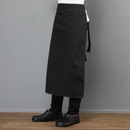 $enCountryForm.capitalKeyWord Australia - Canvas Adjustable Pocket Apron Unisex Kitchen Cooking Diet Work Uniform Restaurant Hotel Cafe Bakery Barber Shop Work Pinafore