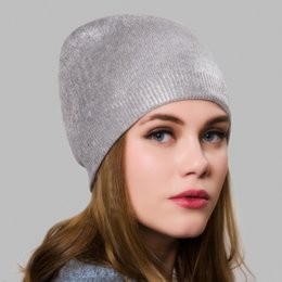 $enCountryForm.capitalKeyWord Australia - Maxi factory Direct Sales High quality cashmere blending hot silver Beret Hat - Women Knitted Braided Crochet Chic French Beanie